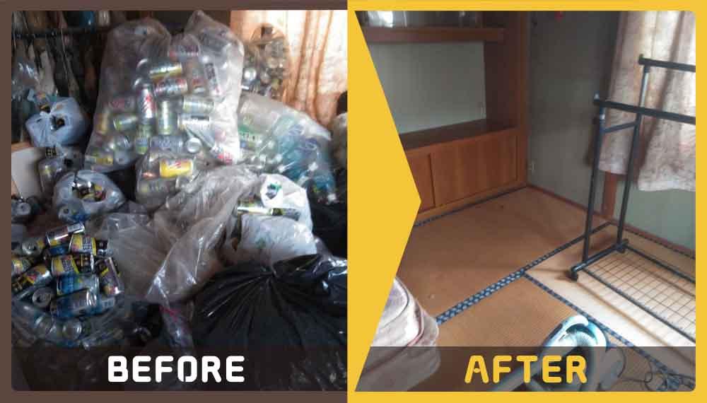 8畳のお部屋にあるゴミやテレビ等の処理にお困りのお客様からご依頼いただきました。