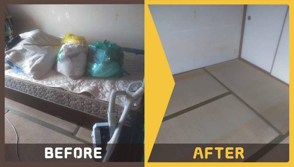 遺品整理のため、家財道具の処分と掃除をご希望のお客様から、ご相談いただきました。
