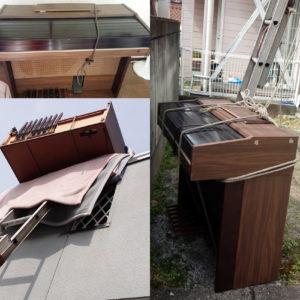 2階の窓から吊り下げ搬出可能!大型楽器も良心価格でスムーズに運びだしてくれた、とご満足いただけました!