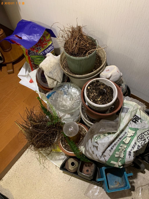 【西尾市】カラーボックス、衣装ケース、鉢植え、物干し竿等の回収