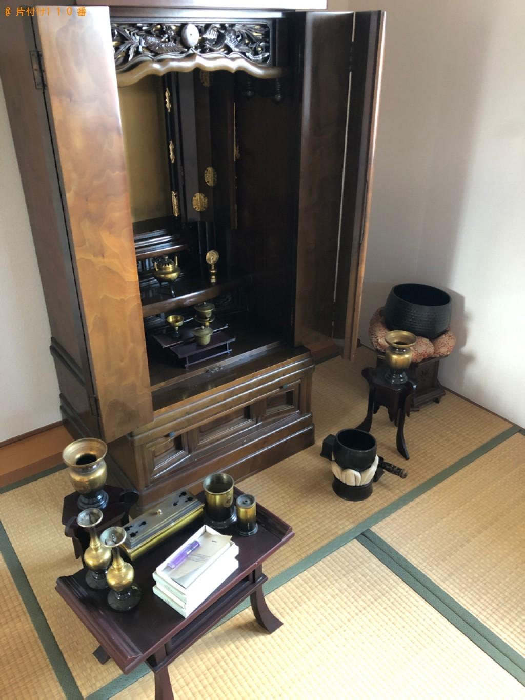 【名古屋市】遺品整理に伴い仏壇、ヒーター、収納ケース、布団等の回収・処分ご依頼