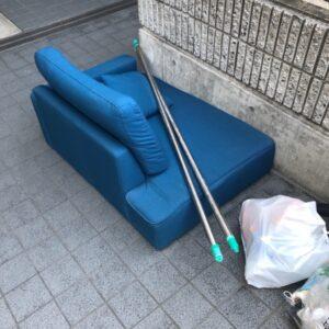 【名古屋市】三人掛けソファー、物干し竿、一般ごみの回収・処分