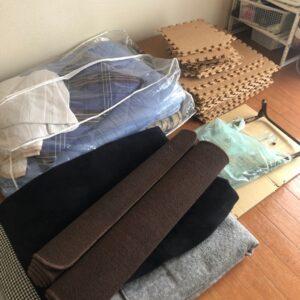 カーペット、布団、ジョイントマット、枕の回収・処分ご依頼