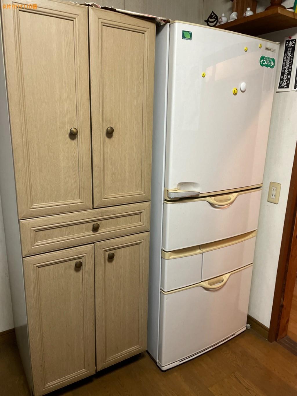 冷蔵庫、テレビ、洗濯機、タンス、食器棚の回収・処分ご依頼