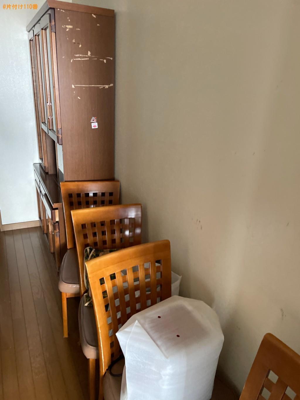 四人用ダイニングテーブル、食器棚、椅子、下駄箱等の回収・処分